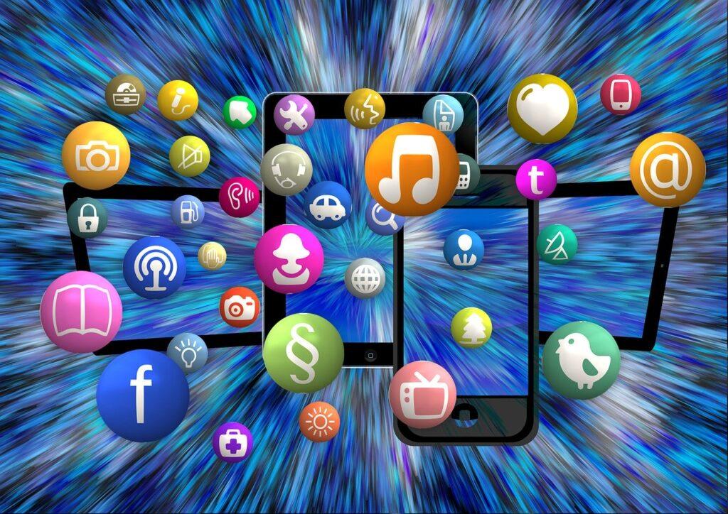 social media, icon, structure